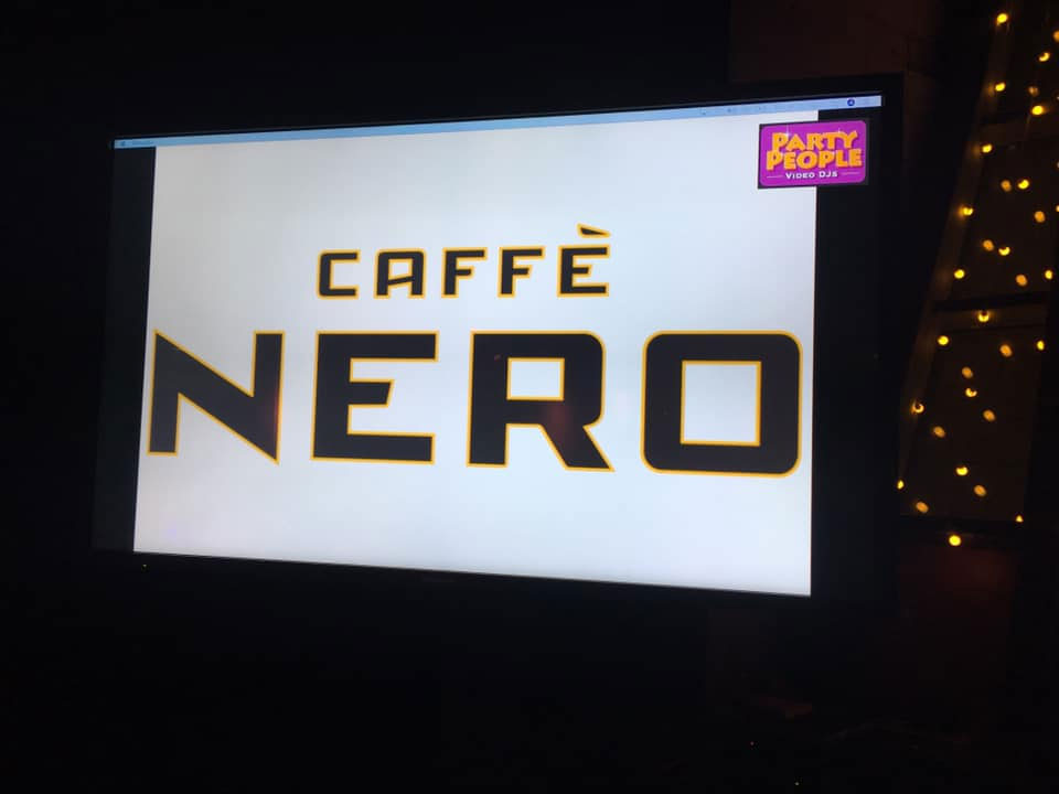 Video DJIng tonight at the CaffeNero awards dinner